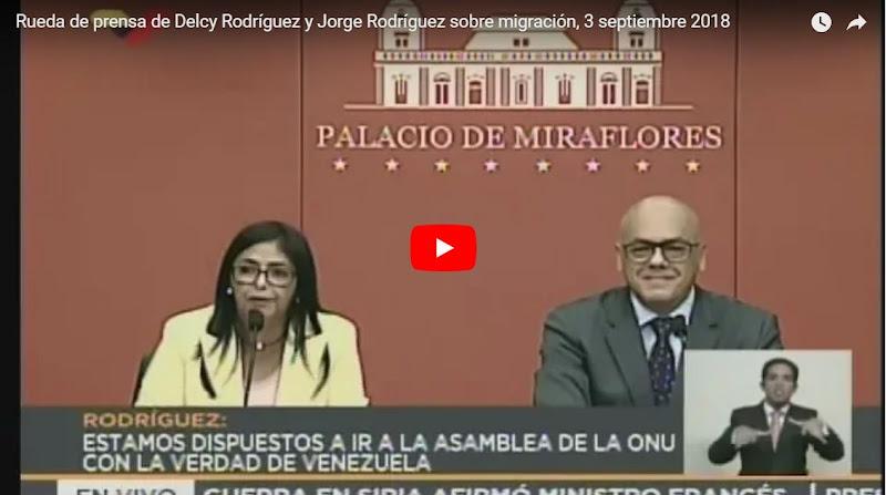 Delcy la Fea acusa a Colombia de vivir de las ayudas internacionales