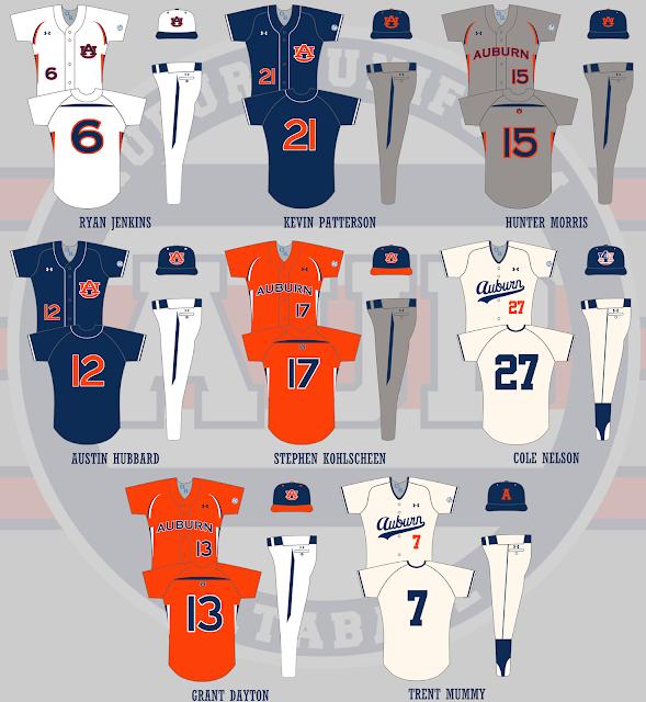 auburn baseball 2010 uniforms