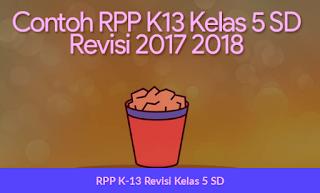 RPP K-13 Revisi Kelas 5 SD