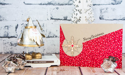Star of Light Diagonal Top Christmas Card made with Stampin' Up! UK Supplies which are available here