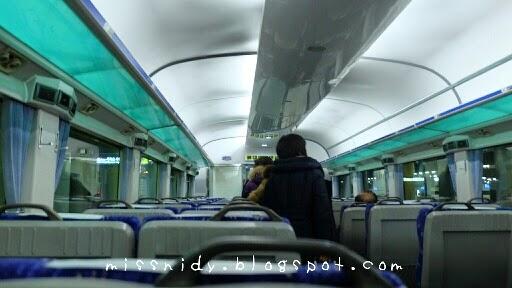 naik kereta mugunghwa dari busan ke seoul