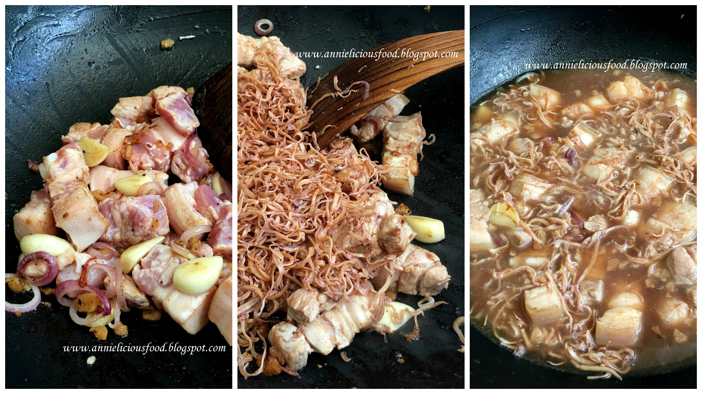 Annielicious Food: Hakka Braised Pork Belly with Dried ...