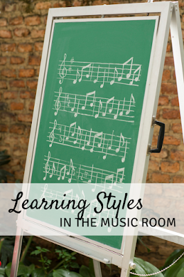 Learning Styles in the Music Room: Strategies for addressing physical, visual, and aural learning styles in the music room, to practice rhythm and melody!