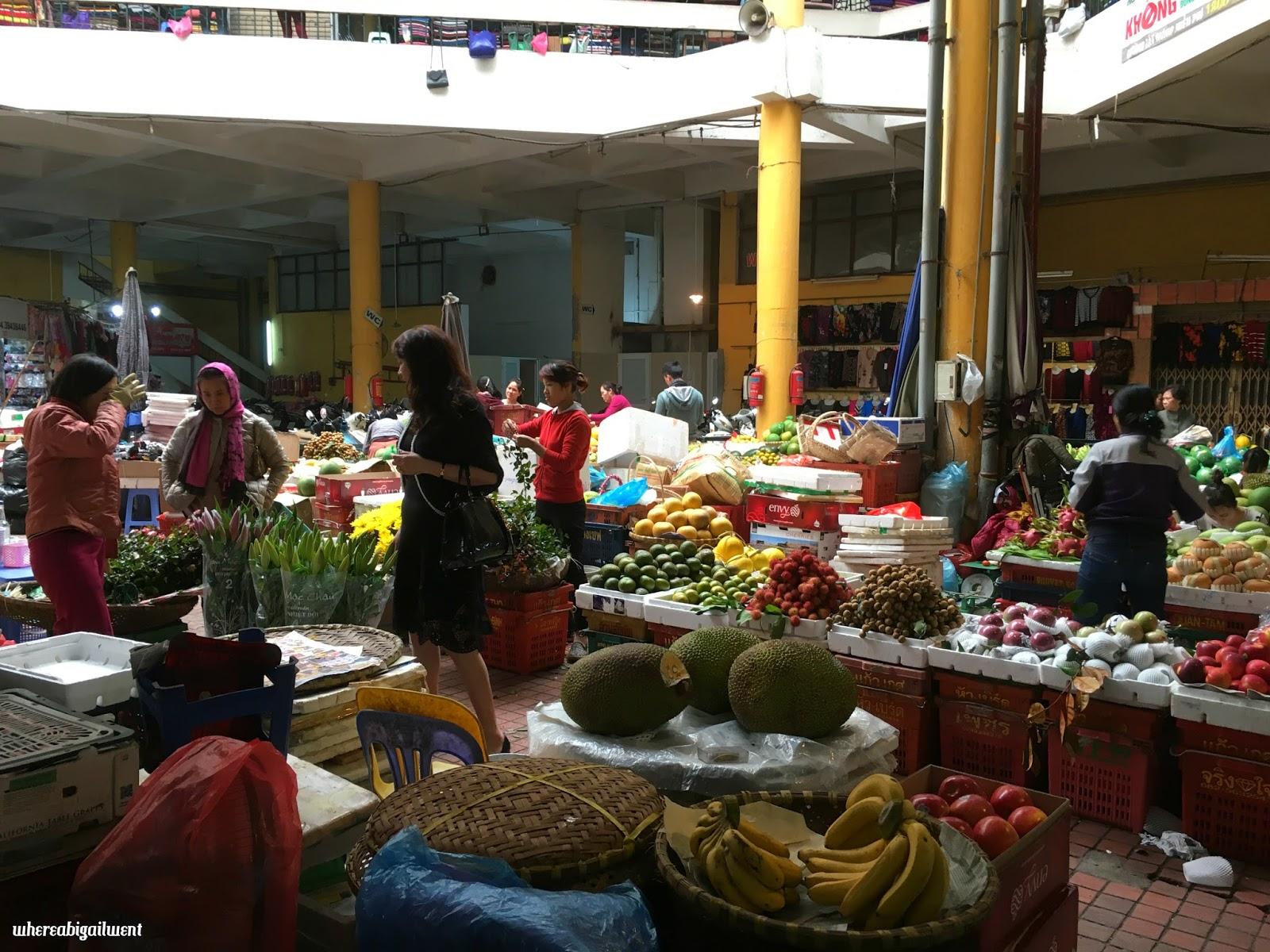 Shopping at Hom Market Hanoi