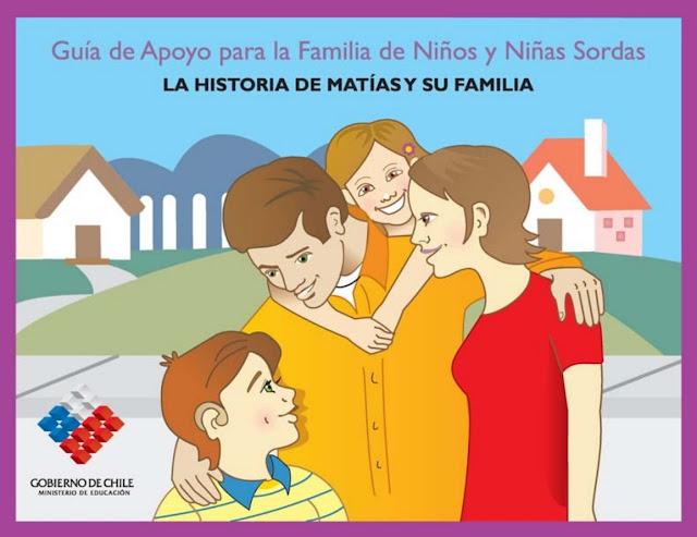 Portada de la guía de apoyo para la familia de niñas y niñas sordos