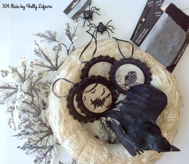 Wreath supplies for Halloween
