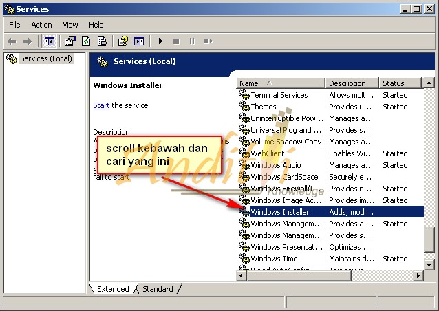 Cara Memperbaiki Error The Windows Installer Service could not be accesed blablabla-anditii.web.id