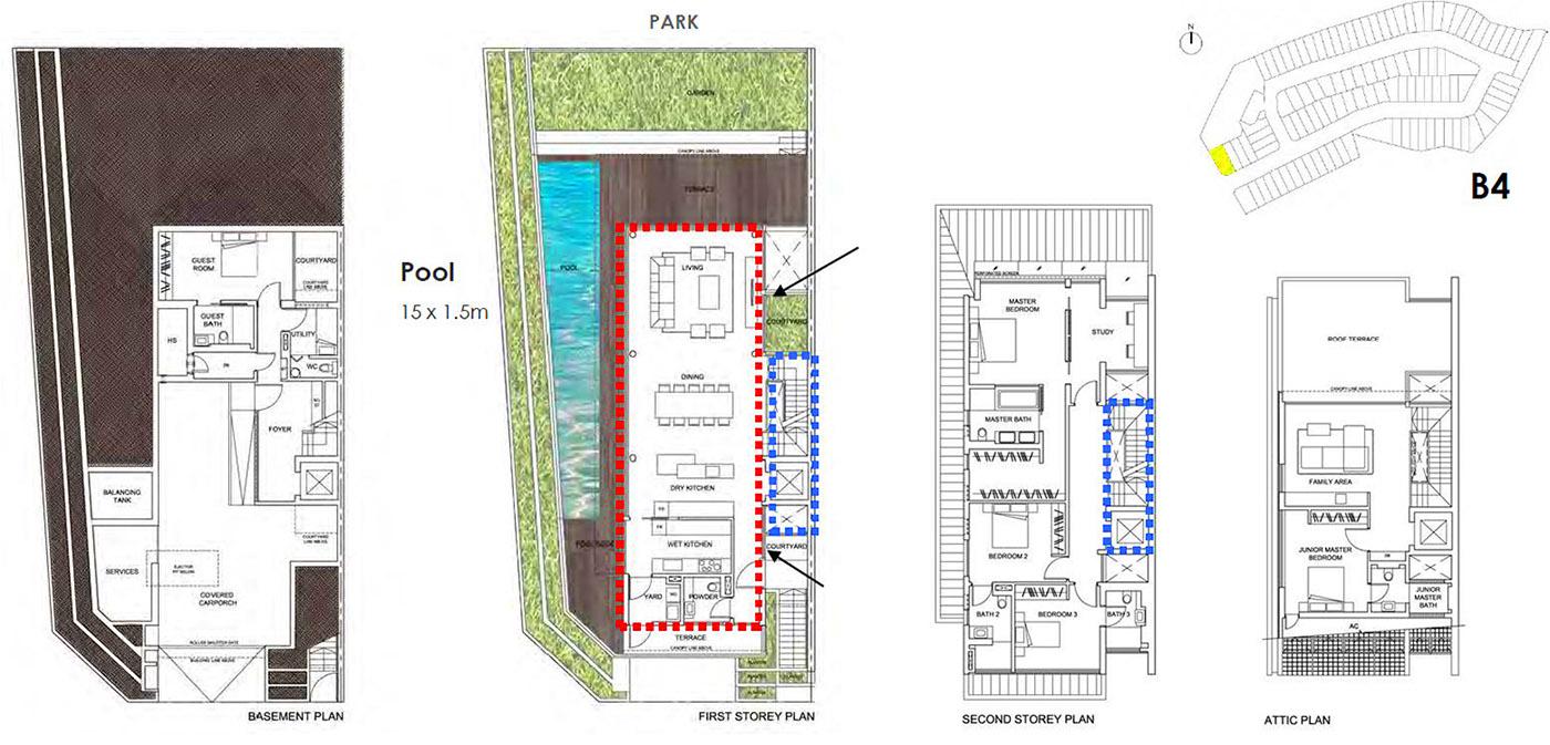 typical layout garden villas B4