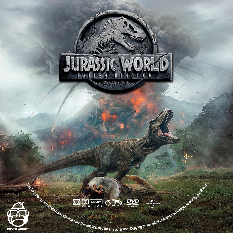 jurassic world fallen kingdom dvd label  cover addict
