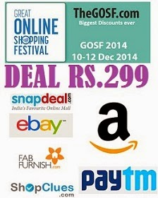 Rs.299 Deal Corner @ Ebay | Snapdeal | PayTm | Shopclues | Amazon | FabFurnish