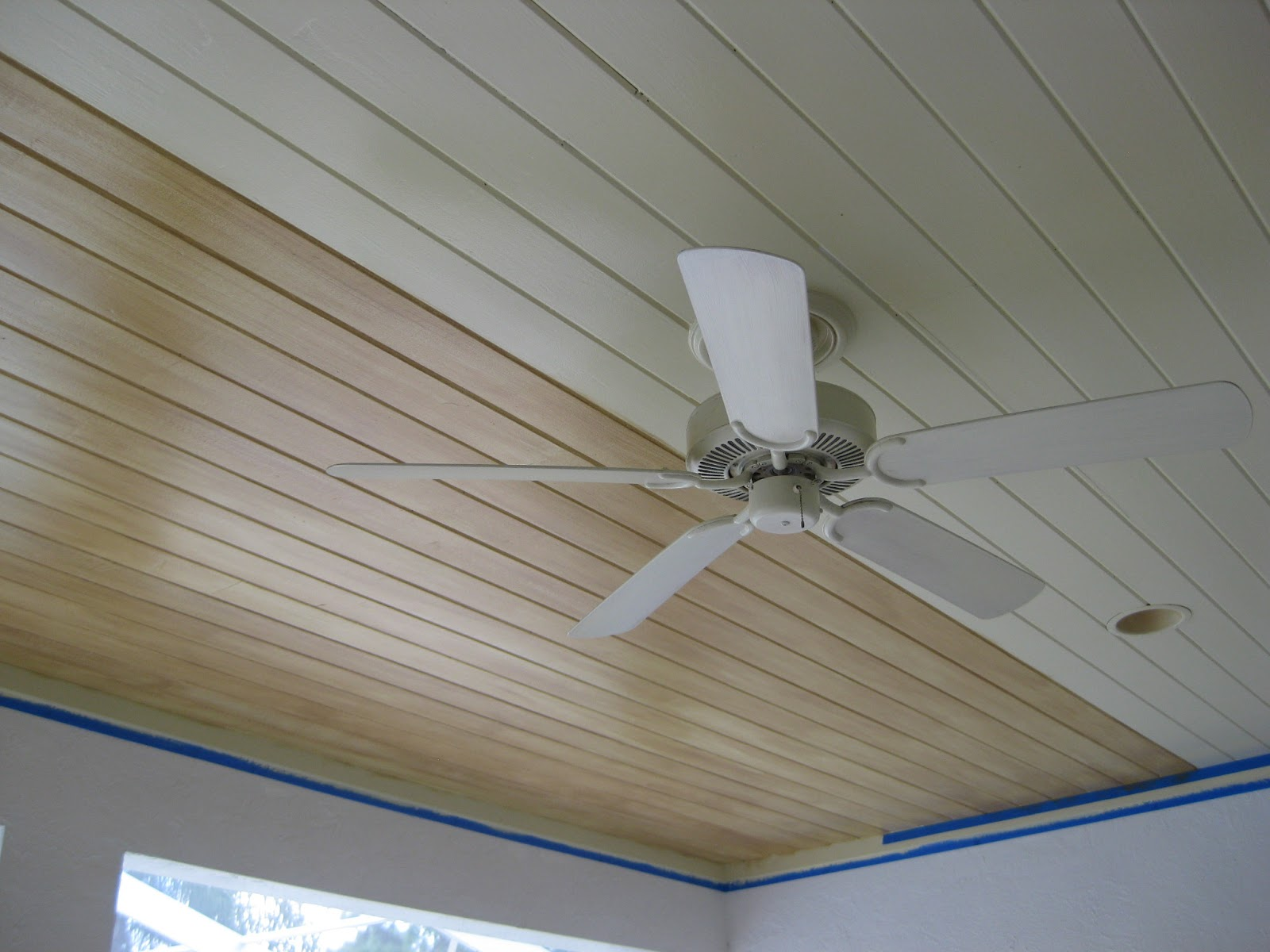 Array of color inc: Faux Painted Pine Wood Ceiling