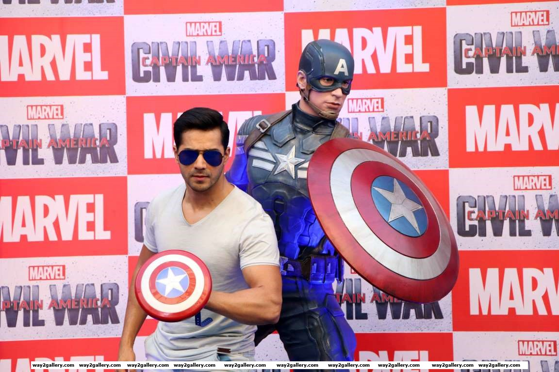 Varun Dhawan launched the Captain America action figurines