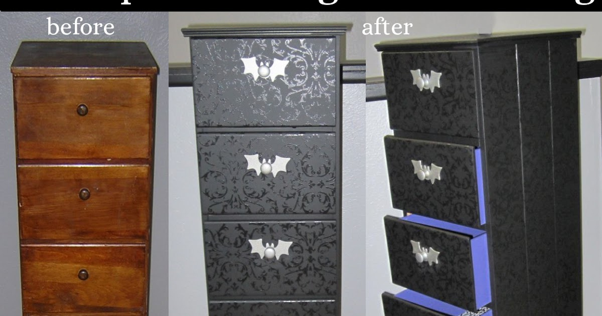 Giy Goth It Yourself Black On Black Chest Of Drawers