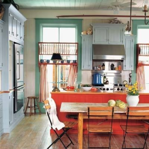 Eclectic Kitchens: Blooms & Bows: Guest Blog: Eclectic Kitchen Color