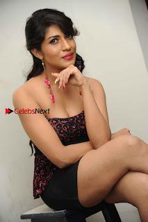 Kannada Actress Iti Acharya Stills in Strapless Dress at Dhwani Movie Press Meet  0005.jpg
