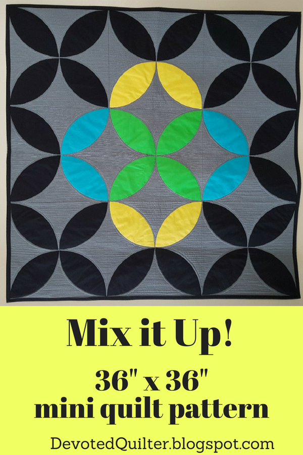 Mix it Up! mini quilt pattern | DevotedQuilter.blogspot.com