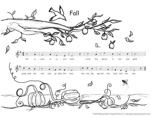 Autumn Coloring Pages  Free Downloadable Coloring Pages  Catholic Music  For Kids
