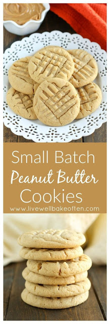 An Easy Small Batch Peanut Butter Cookies