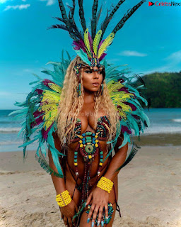 Ashanti huge  at Carnival in Trinidad and Tobago wearing   celebs.in Exclusive Pics 001