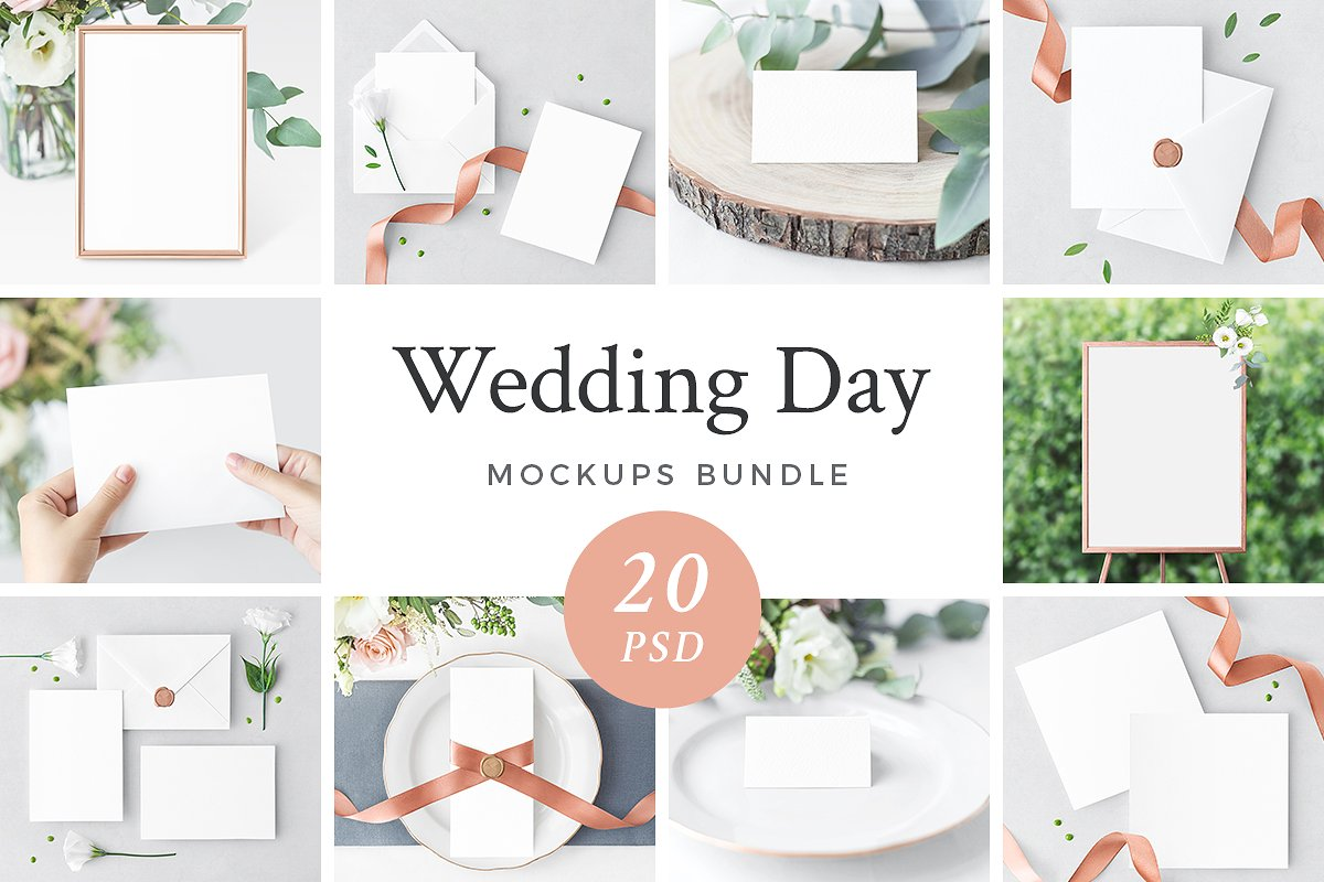 Aweasome Wedding Day Mockups Bundle
