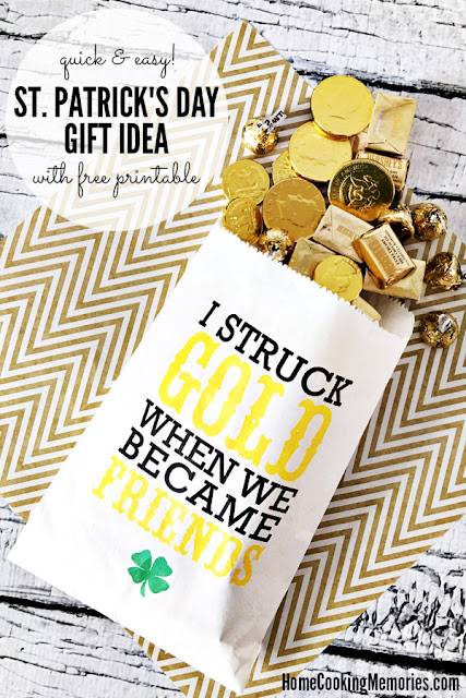 st patricks day gift idea with free printable