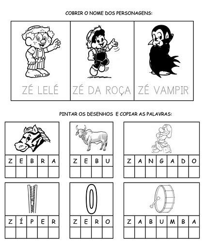 Alfabeto Para Cobrir Colorir Completar Letra Z Portal Escola