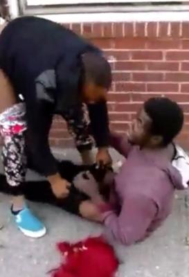 Video: Woman attempts to rape a man in public
