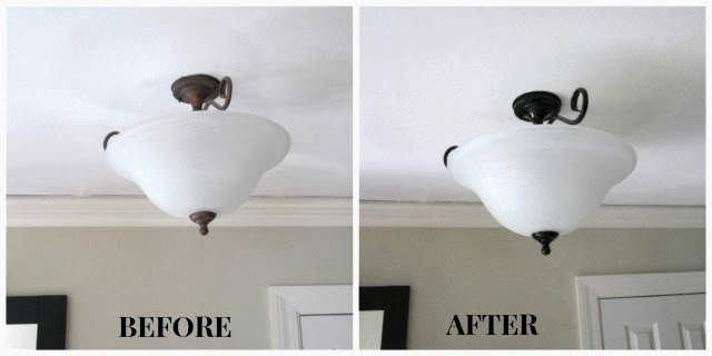 painting light fixtures