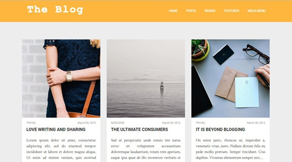 The Blog Way Blogger template