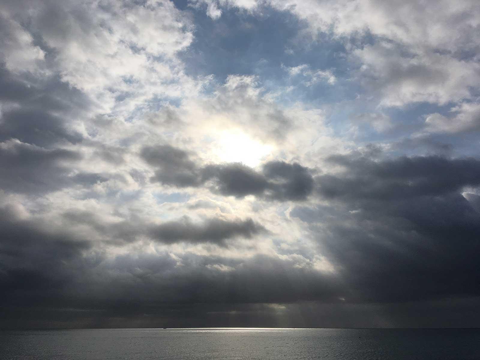 Mar gris en Barcelona. 6 octubre 2019