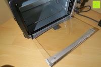 Ofen offen: Andrew James – 23 Liter Mini Ofen und Grill mit 2 Kochplatten in Schwarz – 2900 Watt – 2 Jahre Garantie
