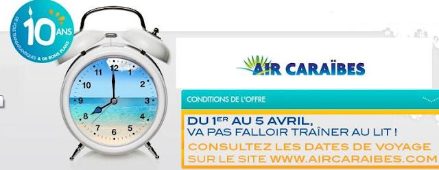 Promo Air Caraibes, billets d'avion 100 euros vols aller retour