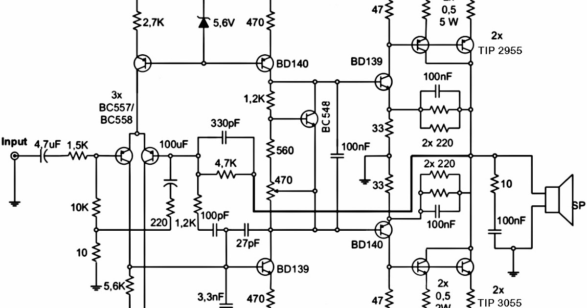 AmplifierCircuits.com: 300W Subwoofer Power Amplifier