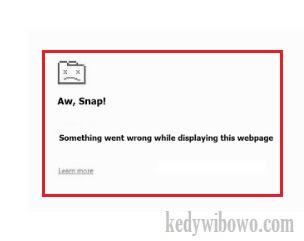 Solusi Ampuh Google Chrome Error Aw Snap Tidak Bisa Browsing