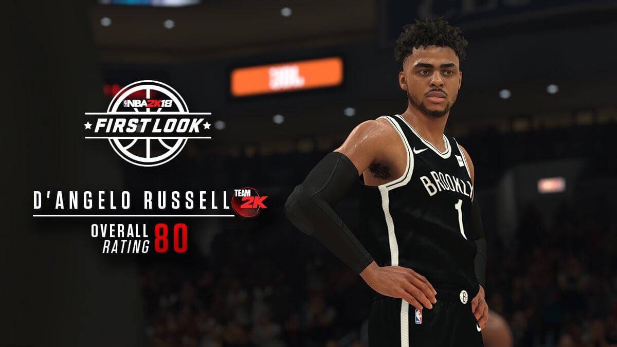 NBA 2K18: First Look at D'Angelo Russell (80)