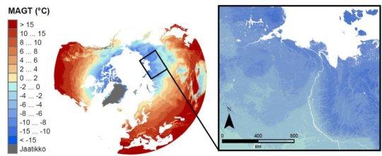 بيانات أكثر تفصيلاً عن الظروف الحرارية لأرض القطب الشمالي
