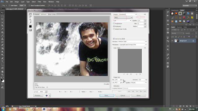 Menyimpan foto hasil edit di photoshop