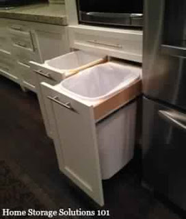 poubelle cuisine caché