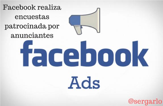 Facebook, encuestas, anunciantes, patrocinada