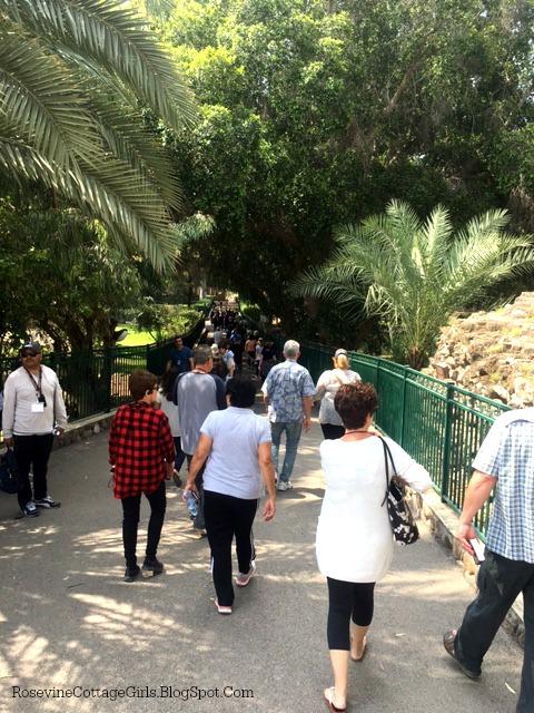 Headed to the Sea of Galilee in Tabgha Israel