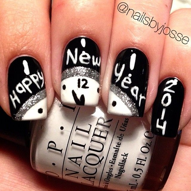 Top New Year Nail Art Design 2018 : Rock The World
