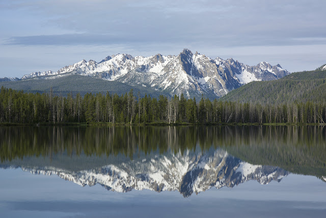The Grand Mogul reflected in Little Redfish Lake near Stanley, Idaho