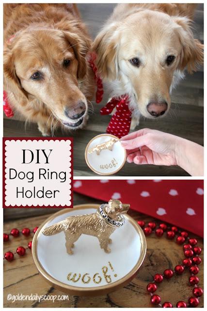 diy Valentine project dog ring holder