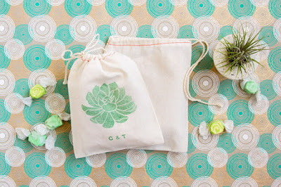 Succulent Favor Bags - Wedding Favors Bags - Succulent Party Favors