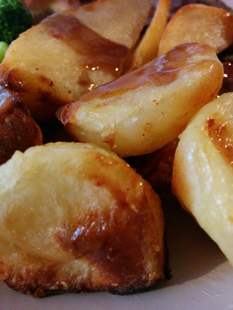 Roast Potatoes, Parsnips and Gravy
