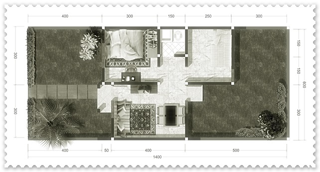 gambar sketsa rumah tipe 21 minimalis modern