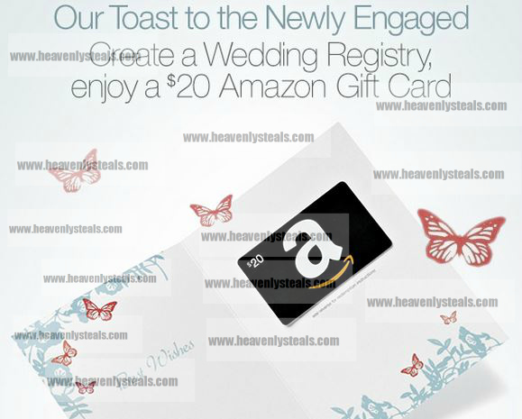 Wedding Gift Card Registry: Free $20 Amazon Gift Card When You Create A Wedding