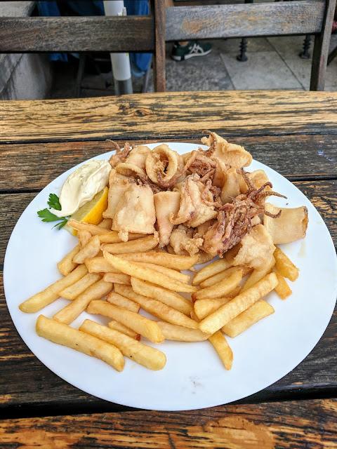 Piran Slovenia: calamari from Fritolin pri Cantini