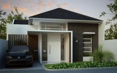 rumah minimalis 1 lantai tampak depan