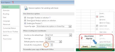 Menambahkan sheet Excel